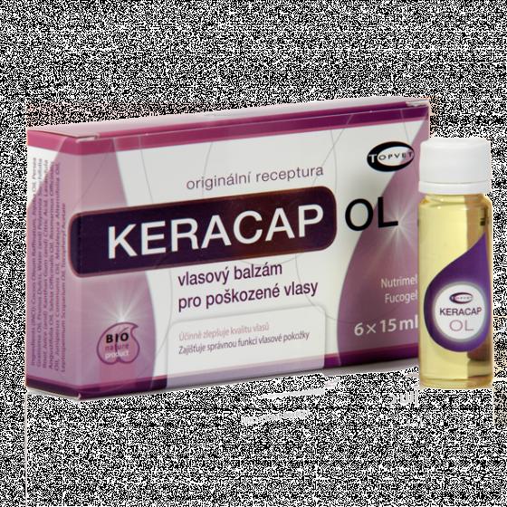 Topvet - Keracap OL 6x15ml vlasové sérum pro poškozené vlasy