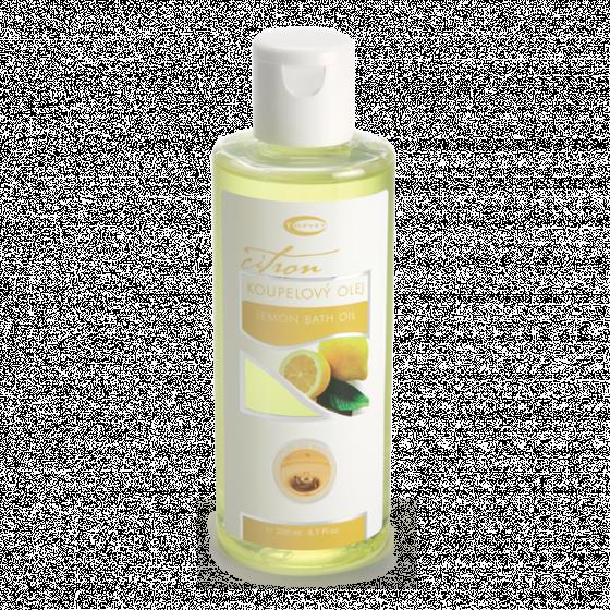 Topvet - Citrónový koupelový olej 200ml pro dobrou náladu, snižení teploty
